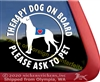 Great Dane Therapy Dog Car Truck RV Window Decal Sticker