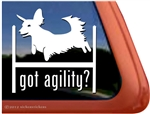 Dachshund Agility Dog Window Decal