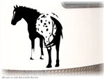 Custom Appaloosa Horse Trailer Decal