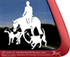 Foxhunt Foxhounds and Horse Trailer Window Decal