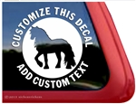Custom Friesian Horse Trailer Car Truck RV Window Decal Sticker