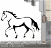 Trotting Horse Trailer Window Decal