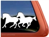 Galloping Horses Trailer Window Decal