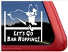 Boston Terrier Agility Dog Window Decal