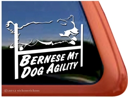Bernese Mountain Dog Agility Window Decal