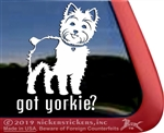 Got Yorkie? Yorkshire Terrier Dog Car Truck RV Window Decal Stickers