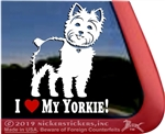 I Love My Yorkie Yorkshire Terrier Dog Car Truck RV Window Decal Sticker DC593HEA