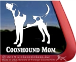 Treeing Walker Coonhound Mom Dog Car Truck RV Window Decal Stickers