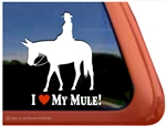 Saddle Mule Window Decal