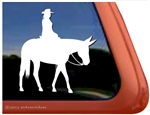 Custom Saddle Mule Trail Riding Western Pleasure Car Truck Trailer RV Window Decal Sticker