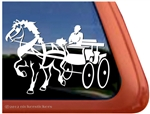 Belgian Draft Driving Horse Trailer Window Decal