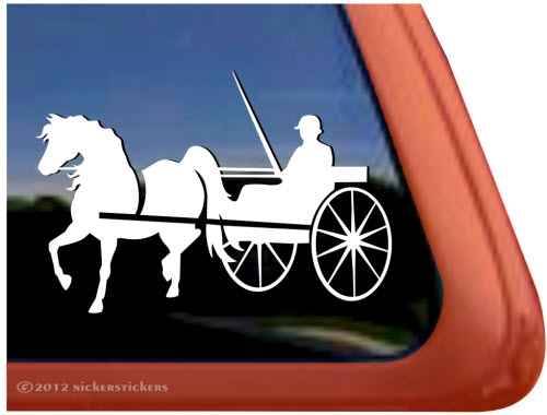 Morgan horse arabian horse driving vinyl window decal larger photo email a friend