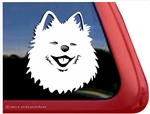 Pomeranian on Board Pom Dog Zwergspitz Sign Decal Car Window Sticker V03