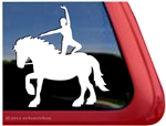 Vaulting Trailer Window Decal