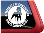 Temperature Controlled Dog is Comfortable Doberman Dog Car Truck RV Window Decal Sticker
