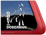 Doberman Window Decal