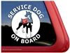 Doberman Pinscher Service Dog Car Truck RV Window Decal Sticker