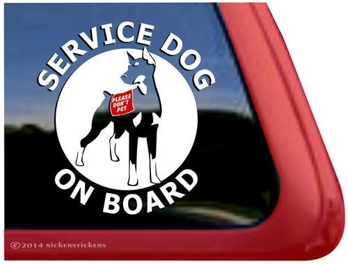 Doberman Service Dog Decals Amp Stickers Nickerstickers