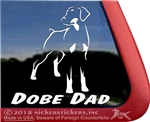 Dobe Dad Doberman Pinscher Window Decal