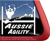 Aussie Agility Australian Shepherd Agility Dog Car Truck RV Window Decal Sticker