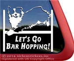 Bar Hopping Australian Shepherd Agility Dog Car Truck RV Window Decal Sticker