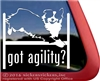 Got Agility Aussie Australian Shepherd Agility Dog Car Truck RV Window Decal Sticker