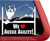 Australian Shepherd Agility Dog Window Decal