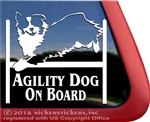 Agility Dog on Board Australian Shepherd Agility Dog Window Decal