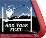 Custom Australian Shepherd Agility Dog Aussie Car Truck RV Window Decal Sticker