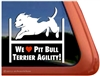 Pit Bull Agility Dog Window Decal
