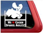 Cocker Spaniel Agility Dog Window Decal