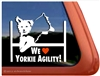 Yorkshire Terrier Agility Dog Window Decal
