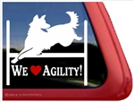 German Shepherd Agility Window Decal
