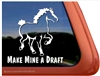 Belgian Draft Horse Trailer Window Decal