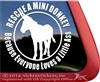Miniauture Donkey Burro Rescue Car Truck Trailer Window Decal Sticker