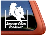 American Eskimo Dog Agility Window Decal