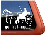 Haflinger Driving Vinyl Window Decal
