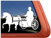 Custom Shetland Pony Driving Horse Trailer Car Truck RV Window Decal Sticker