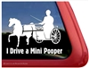 Mini Pooper Shetland Pony Driving Horse Trailer Car Truck RV Window Decal Sticker