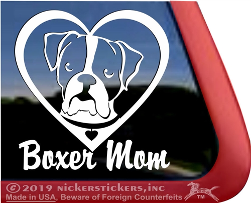 Boxer DadHigh Quality Natural Boxer Dog Window Decal Sticker
