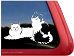 Pair of Kitties Window Decal
