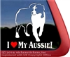 I Love My Aussie Australian Shepherd Dog Car Truck RV Window Decal Sticker