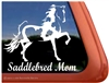 Saddlebred Pinto Horse Trailer Window Decal