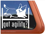 Corgi Agility Dog Window Decal