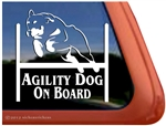 Rottweiler Agility Dog Window Decal