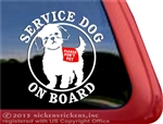 Shih Tzu Service Dog Window Decal