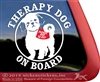 Shih Tzu Therapy Dog Window Decal