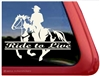 American Paint Rider Window Decal