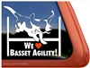 Basset Hound Agility Dog Window Decal