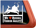 Jack Russell Terrier Agility Dog Window Decal